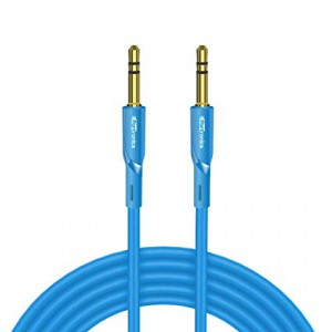 Portronics Konnect AUX II POR-062 AUX Cable - 4.92 Feet (1.5 Meters) - Blue
