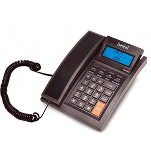 Beetel M64 BLACK Corded Landline Phone  (Black)