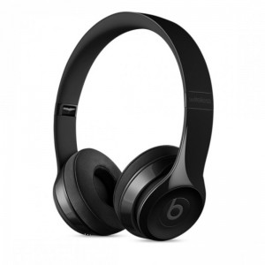 BEATS SOLO 3 BLUETOOTH WIRELESS ON EAR HEADPHONES WITH MIC (GLOSS BLACK)