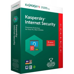Kaspersky Internet Security 2018- 1 PC, 1 Year (CD)