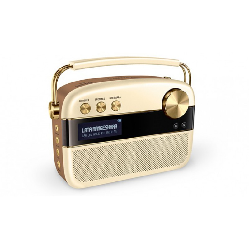 Saregama Carvaan 6 W Bluetooth Home Audio Speaker Hindi Harman Kardon (gold)