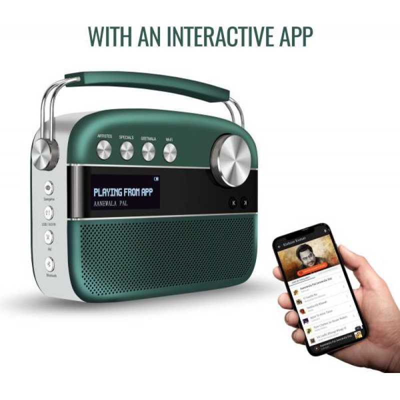 Saregama Carvaan 2.0 With 5,000 Preloaded Songs and Wi-Fi