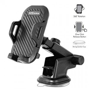 Portronics POR-116 Clamp M Car Mobile Holder (Black)