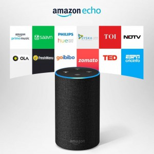Amazon Echo - Voice control your music, Make calls, Get news, weather & more, Powered by Dolby – Black
