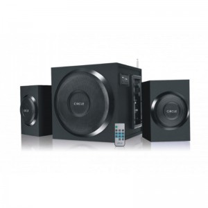 CIRCLE 2.1 CHANNEL MULTIMEDIA SPEAKER 370RC WITH USB/SD/DIGITAL FM