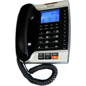 Beetel M70 Corded Landline Phone  (Black and Silver)